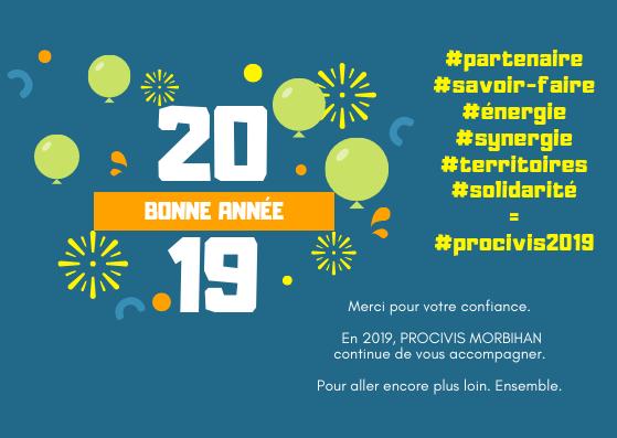 Très bonne année 2019 avec PROCIVIS MORBIHAN !